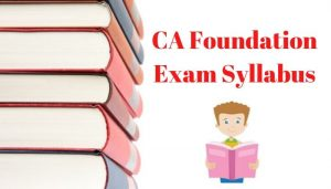 ca foundation exam syllabus