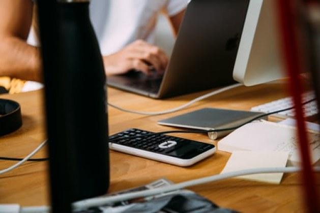 """A leather desk pad"" a must Millennial Office Design"